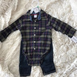 Flannel with Matching Jeans